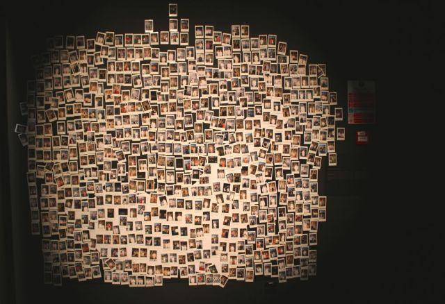 Lest We Forget polaroids in Qasr Al Hosn museum