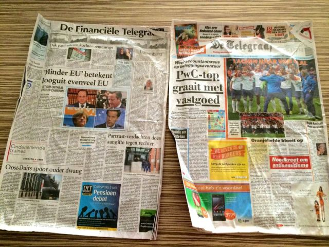 newspaper - pee pads
