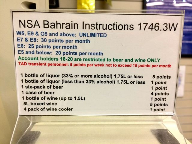 sign in the liquor store