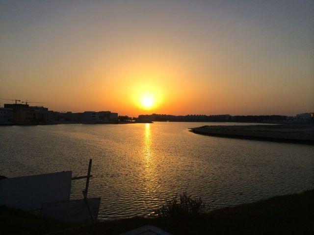 beautiful sunset over Amwaj Islands