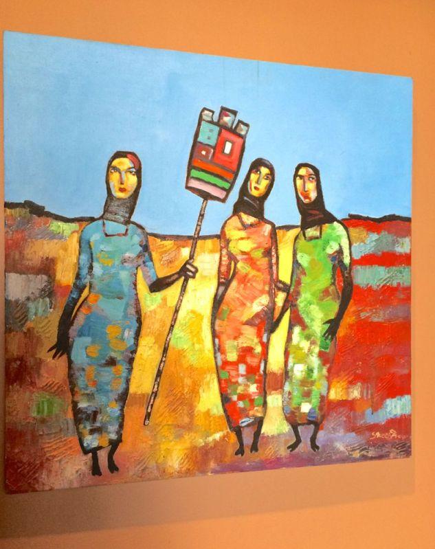 a painting in Yamin Jana