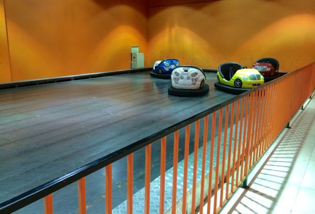 they even have bumper cars in Seef Mall