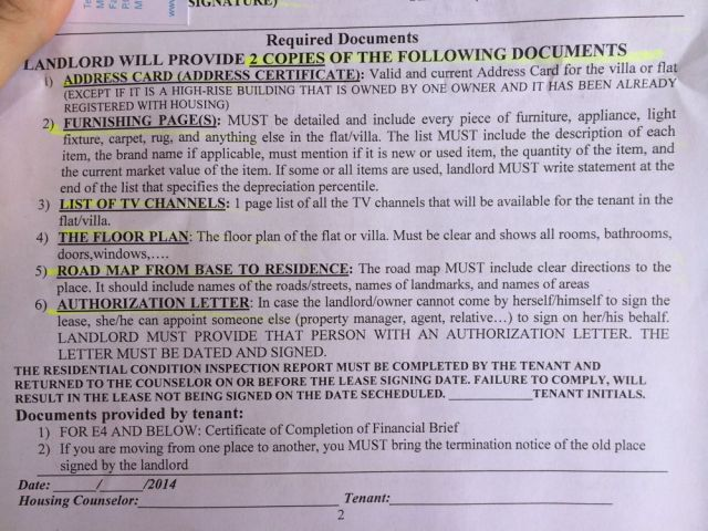 bottom half of pg.2 pre-lease contract