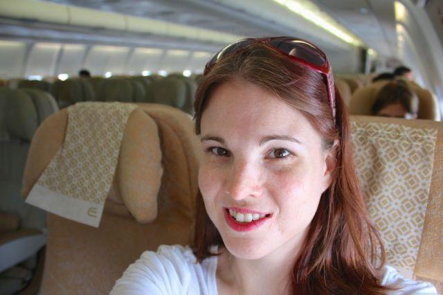 one happy traveler via Etihad Airways