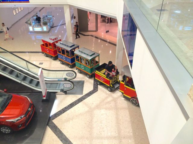 cars, trains, and sweets at Seef Mall