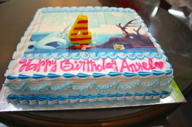 the cake after Angel stuck the candle in twice
