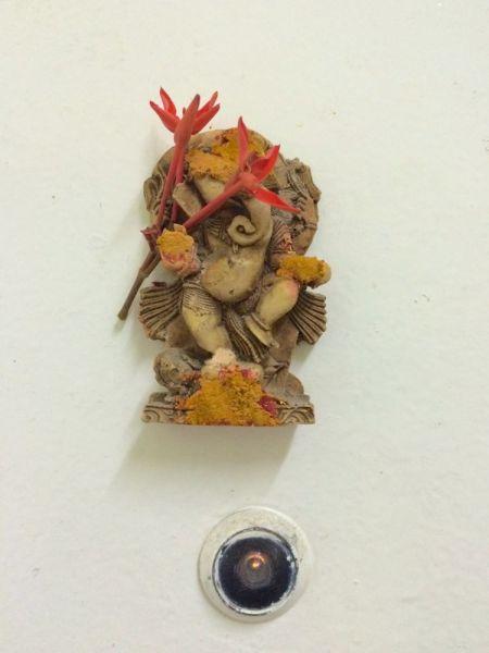 Ganesh - a lucky omen on Priya's door