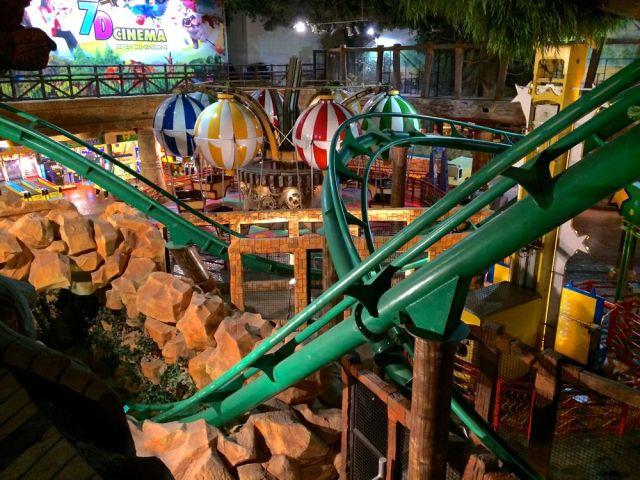 Jungle Storm roller coaster through Chakazoolu