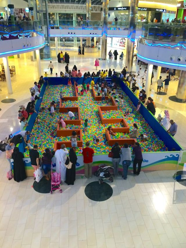 ball pit at Seef Mall