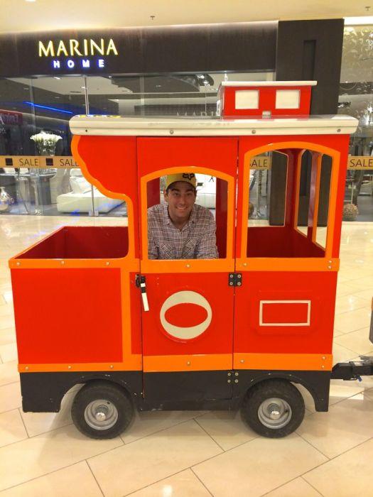 Caleb on the chop-choo train