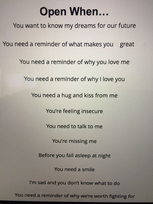 cute letter idea I found online