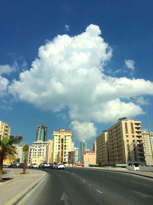 clouds over Juffair