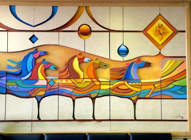 airport art near Terminal 17