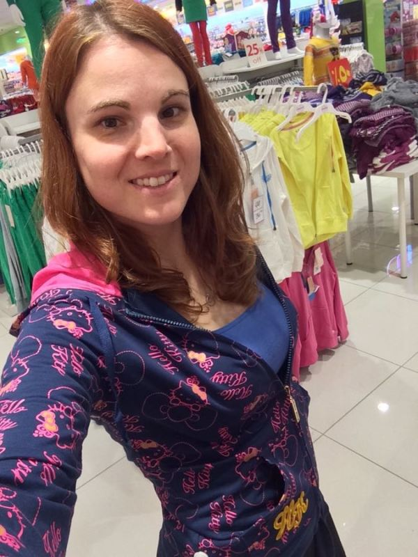 a shopping selfie, though next time I'll try on the undergarments