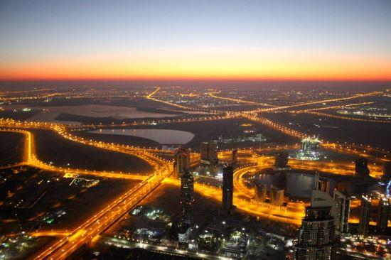 6:15 am, view from Burj Khalifa