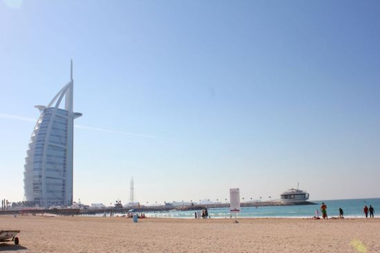 beach next to Burj Al Arab