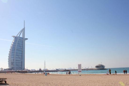 beach next to Burj Al Arab