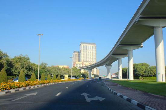 driving into Dubai