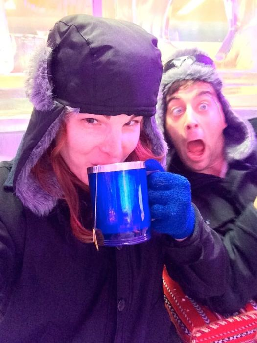 our reactions to hot tea in a frozen environment at Chill Out