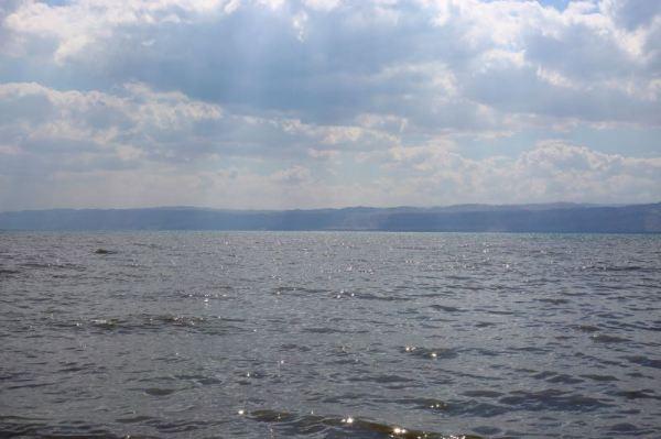 feet in the Dead Sea