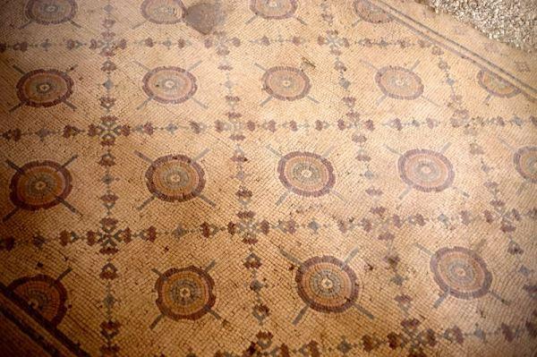 large mosaic at Church of the Apostles in Madaba, Jordan