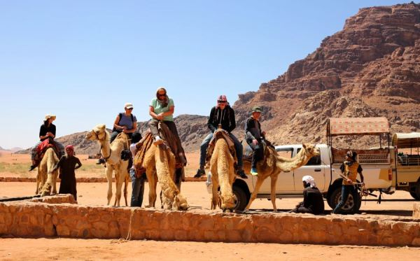 camel option through Wadi Rum vs. 4WD that we took