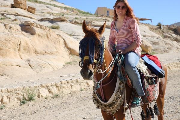 riding into Petra