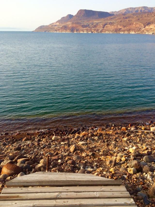 incomplete boardwalk to Dead Sea