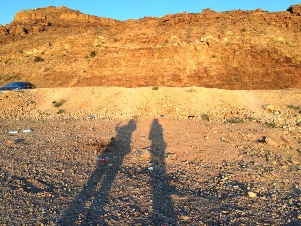 shadows by the Dead Sea