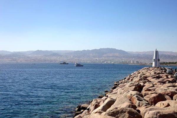 looking west to Israel
