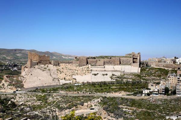 zoomed-in view of Karak Castle