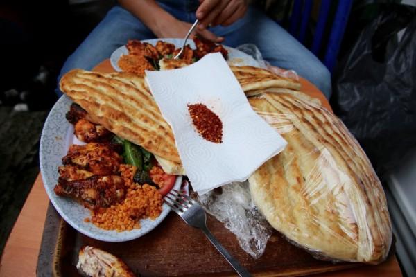 street food in Arasta Bazaar