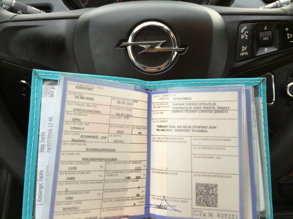 rental car info book