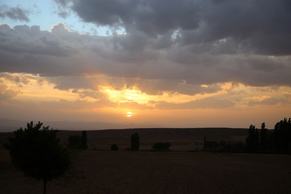 sunset near Gülşehir