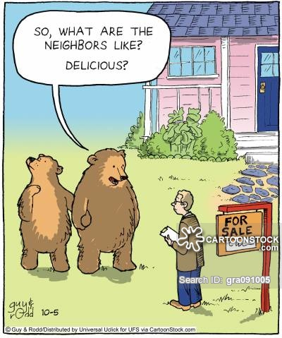'So, what are the neighbors like? Delicious?'